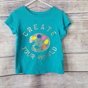 🍁3/$12 Old Navy Screen Print Tee, Girls size 4T🍁